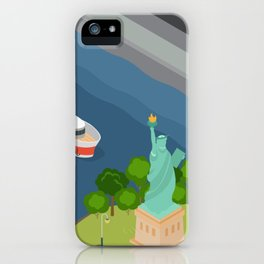 Helicopter tour of New York City iPhone Case