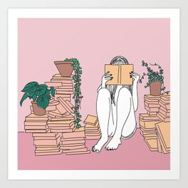 Reading is Lit Art Print