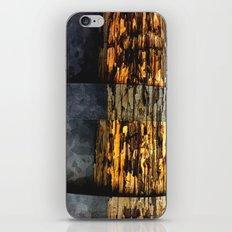 woodonmetalonwood iPhone & iPod Skin