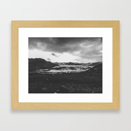 Ice giant - black and white landscape photography Framed Art Print
