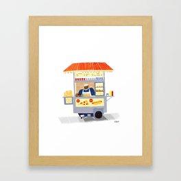 NY Street Food vendor Framed Art Print