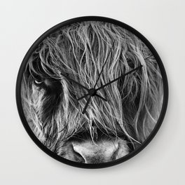 Highland cow print Wall Clock