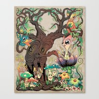 jungle Canvas Prints featuring JUNGLE by GEEKY CREATOR