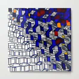 Cubism Harpa, Iceland Metal Print