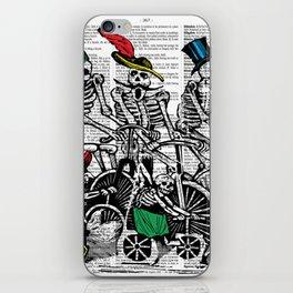 Calavera Cyclists iPhone Skin