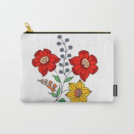 Hungarian placement print - white Carry-All Pouch