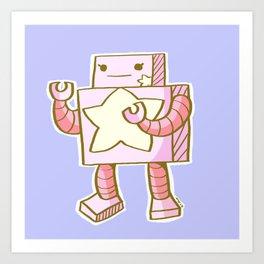 Kawaii Robot Art Print