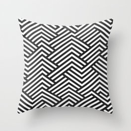 Bw Labyrinth Throw Pillow
