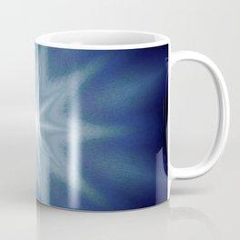 Deep Blue Classic Blue  Starburst Mandala Coffee Mug