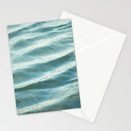 Water Abstract Photography, Ocean Ripples, Blue Teal Sea Stationery Cards
