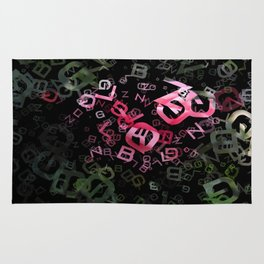 Pink Roses in Anzures 6 Letters 3 Rug