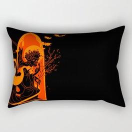 Beati Vespertilionem: Orange Rectangular Pillow