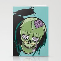 misfits Stationery Cards featuring 20 Eyes in my Head by Greenfuzz