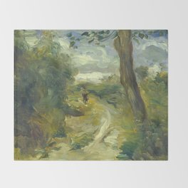 Landscape Between Storms Oil Painting by Auguste Renoir Throw Blanket