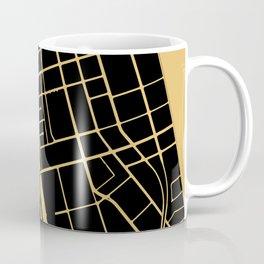 Toronto Map 1 - Gold on Black Coffee Mug