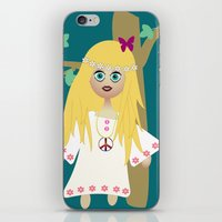hippie iPhone & iPod Skins featuring Hippie by lescapricesdefilles