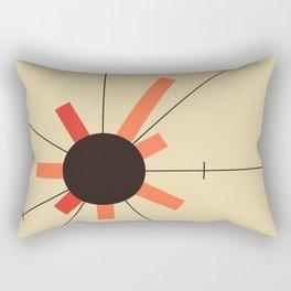 paper sun || straw Rectangular Pillow
