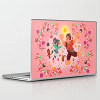 wreck it ralph Laptop & iPad Skins featuring Sweet wall painting by princessbeautycase