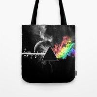 floyd Tote Bags featuring Pink Floyd by Akamsa