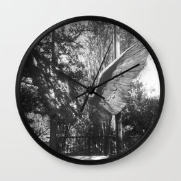 "The ""Wings of the City"" sculpture exhibit by Mexican Artist Jorge Marín 5 Wall Clock"