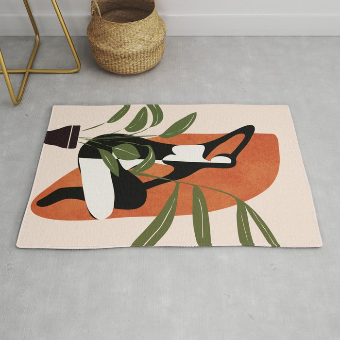 Abstract Female Figure 20 Rug