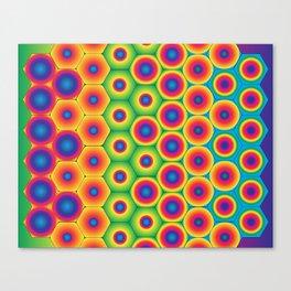 Rainbow Hexagon Canvas Print