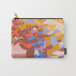 Warm Color Block Chicken - Farm Animal Art Carry-All Pouch