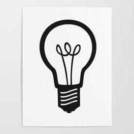Simple Light Bulb Poster