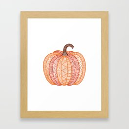 Patterned Pumpkin Framed Art Print