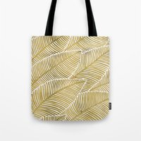 tropical Tote Bags featuring Tropical Gold by Cat Coquillette