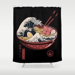 Great Ramen Wave Shower Curtain