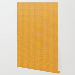 Orange Clover Pattern Wallpaper