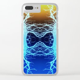 Forests Spirits in Technicolour Clear iPhone Case