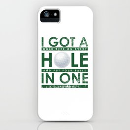 Funny Golfing Player Hobby Golfer Club iPhone Case