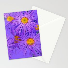 LAVENDER PURPLE ASTER FLOWERS ART Stationery Cards