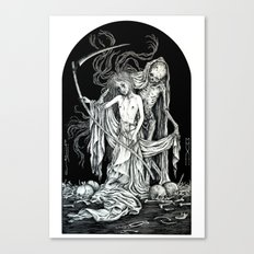 Death and the Maiden III Canvas Print