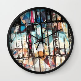 Musical Cassette Tapes Collage Wall Clock