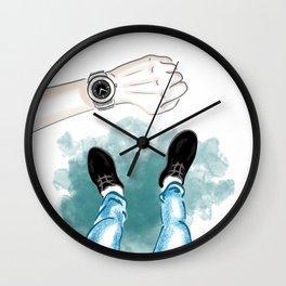 Men's Selfie with Watches Wall Clock