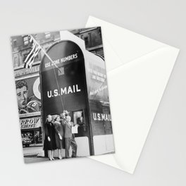 Times Square Post Office Giant Mailbox Stamp-selling Booth black and white photography Stationery Cards