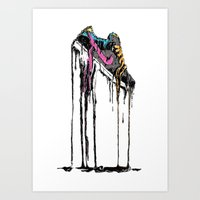 shoe Art Prints featuring SHOE by maivisto