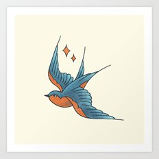 Swallow Flash  Art Print