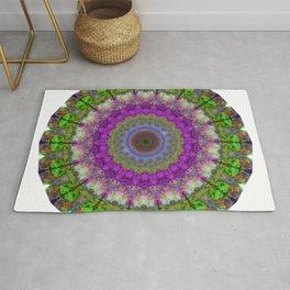 Soft Light - Kaliedescope Mandala By Sharon Cummings Rug