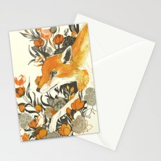 fox in foliage Stationery Cards