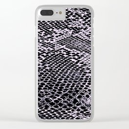pink snake Clear iPhone Case