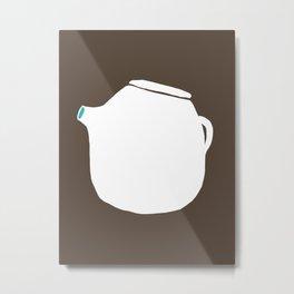 Grey Pot Metal Print
