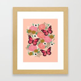 Monarch Florals by Andrea Lauren  Framed Art Print