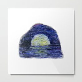 Moonscape by annmariescreations Metal Print