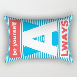 Be Yourself Always, (Playing With Stripes collection) Rectangular Pillow