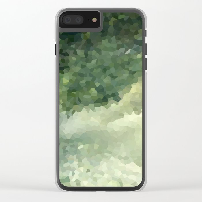The green background .Storm . Clear iPhone Case