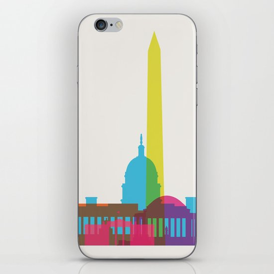 Shapes of Washington D.C. Accurate to scale iPhone & iPod Skin